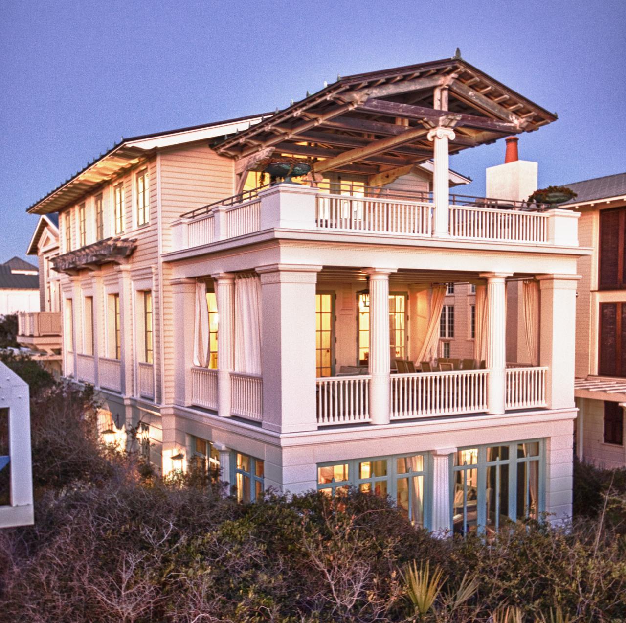 Nesbitt residence custom homes seaside fl o b laurent construction - Images of home ...