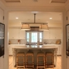 Custom kitchen with island seating area