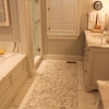 Custom tile work in bathroom