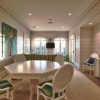 Relaxing dining area with paneling