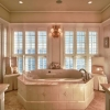 Sunken tub in luxury bathroom