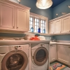 Custom laundry room with coastal accents